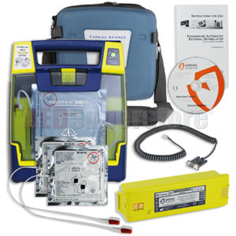 AEd Defibrillator- Cardiac Science AED Defib with Case & Battery, etc.